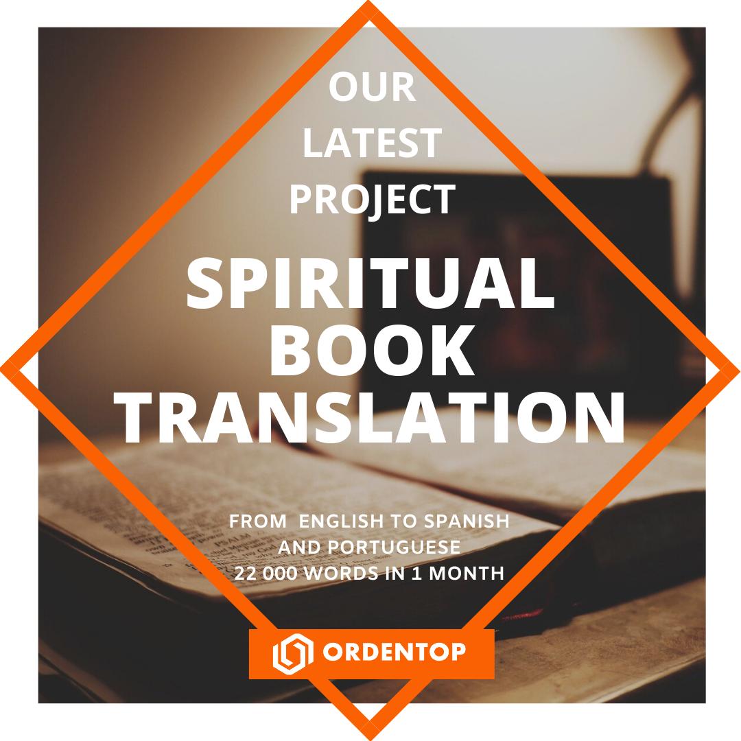 Spiritual book translation
