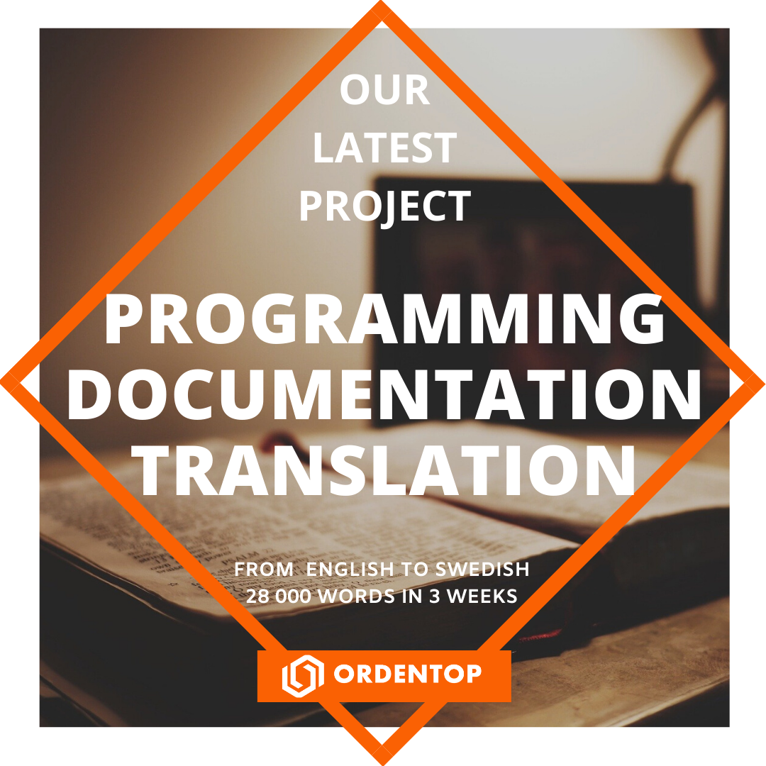 PROGRAMMING DOCUMENTATION TRANSLATION