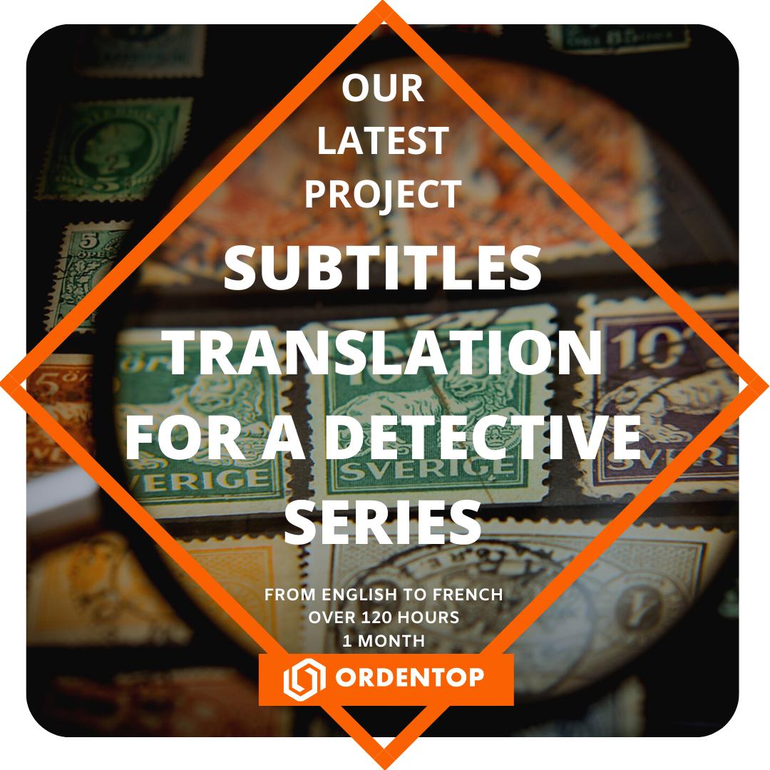 Subtitles translation for a detective series