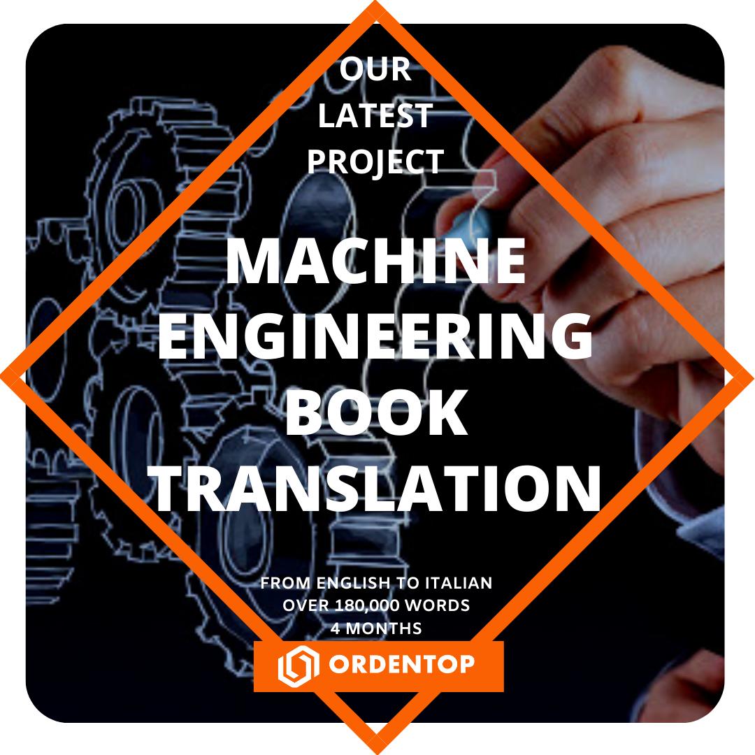 Machine Engineering Book Translation