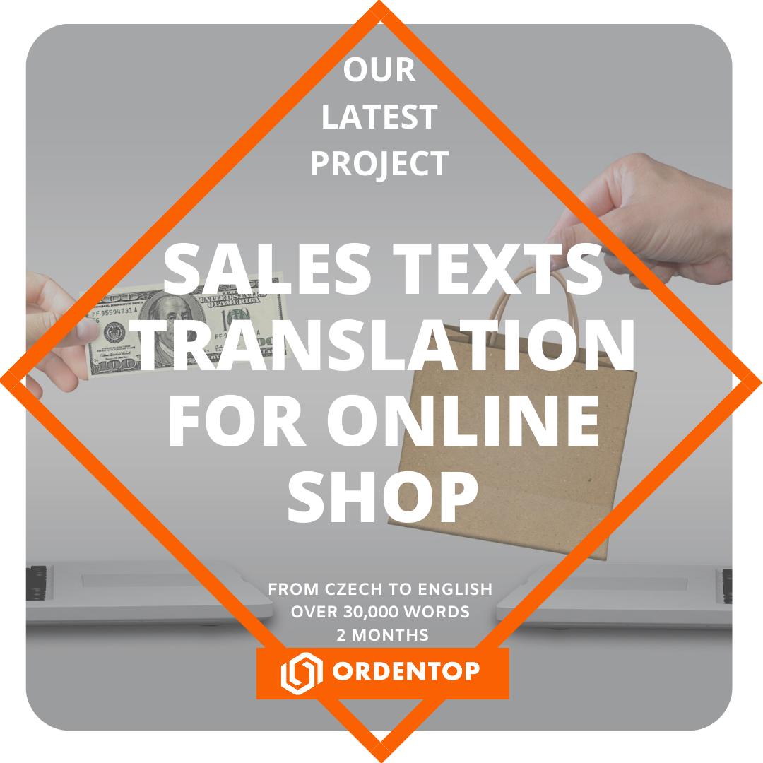 Sales texts translation for online shop